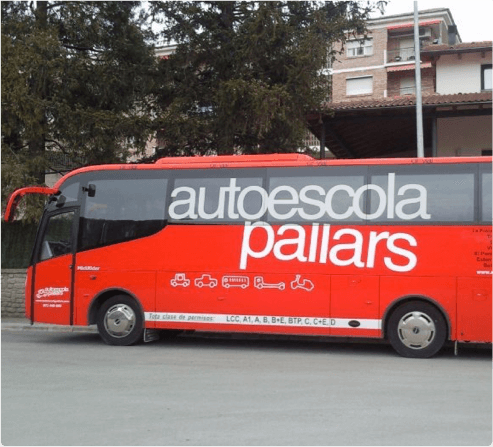 Carnet autobús práctica Autoescuela Pallars